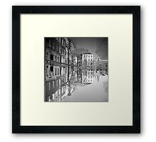 Flooding Wrecks Your Head Framed Print