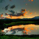 Sunset Lake by greg1701
