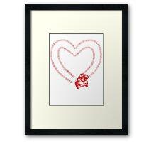 Tread Love Framed Print