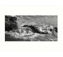 Coastline Rocks - Cornwall  Art Print