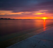 Sunset in zadar by Ivan Coric