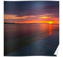 Sunset in zadar Poster
