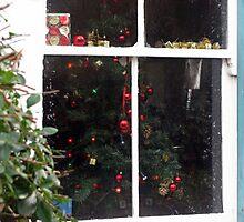 Festive cottage window Photographic Print