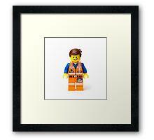 Orange Jumpsuit Minifig Framed Print
