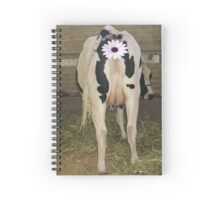 Udderly Bovine Spiral Notebook