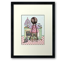 kitten and cupcakes Framed Print