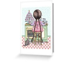 kitten and cupcakes Greeting Card