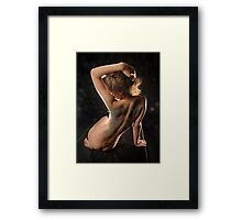 Back with Wings #3143-HBA, a nude by Chris Maher Framed Print