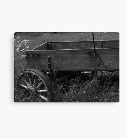 Deserted Wagon Canvas Print
