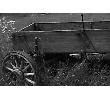 Deserted Wagon Photographic Print