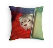Little rascal Ferret Throw Pillow