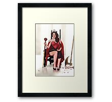 Bloody red Queen Framed Print