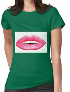 Oil Pastel Lippy Lips Womens Fitted T-Shirt