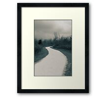 The winter lane  A Split Toned Photograph  Framed Print