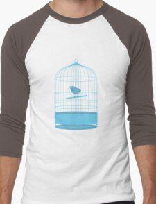 bird in cage Men's Baseball ¾ T-Shirt