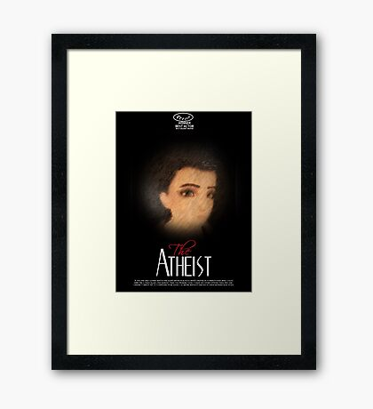 Loki gag the atheist Framed Print