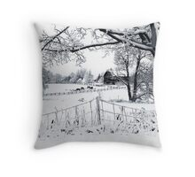Stopping by the side of the road....... Throw Pillow
