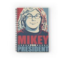 Mikey for President Spiral Notebook