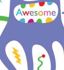 critter awesome - light Sticker