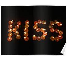 Kiss with candles Poster