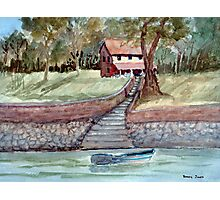 Lakefront Property - Watercolor Photographic Print