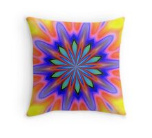 Techno Splash Throw Pillow