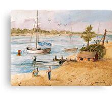 Fun in the Sun - Watercolor Canvas Print