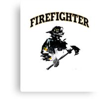 Brush with a Firefighter Canvas Print