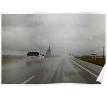 Rainy road Poster