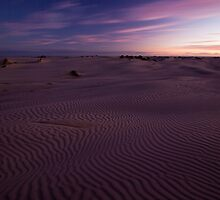 Sand ripples at dusk by Will Hore-Lacy