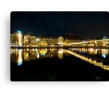 Luzern by night Canvas Print