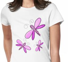 Dragonfly Trio  Womens Fitted T-Shirt