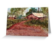 Red Clay Farm - Watercolor Greeting Card