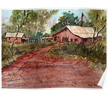 Red Clay Farm - Watercolor Poster