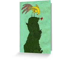 Mythical bird on Mountain top Greeting Card