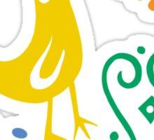 Feista Bird - light Sticker