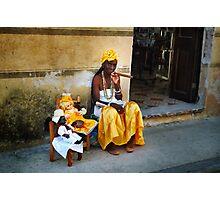 Cuban Santera Smoking Big Cigar Photographic Print