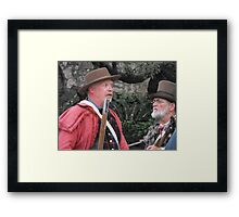 """Re-Enacting the Battle of the Alamo: """"HOW BIG is the Mexican Army?"""" Framed Print"""