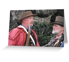 """Re-Enacting the Battle of the Alamo: """"HOW BIG is the Mexican Army?"""" Greeting Card"""