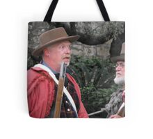 "Re-Enacting the Battle of the Alamo: ""HOW BIG is the Mexican Army?"" Tote Bag"
