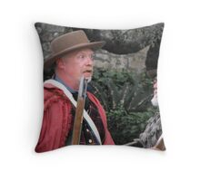 """Re-Enacting the Battle of the Alamo: """"HOW BIG is the Mexican Army?"""" Throw Pillow"""