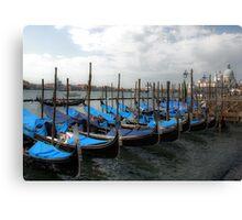 Covered Gondolas Canvas Print