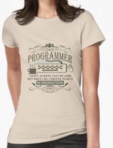 Production Programmer Womens Fitted T-Shirt