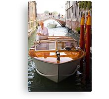 Water Taxi and Driver Canvas Print
