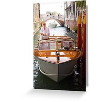 Water Taxi and Driver Greeting Card