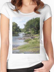 a vast Zambia landscape Women's Fitted Scoop T-Shirt