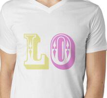 One half of LOVE colour Mens V-Neck T-Shirt