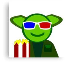Yoda Popcorn Canvas Print