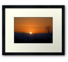 Sunset over Samburu... Framed Print