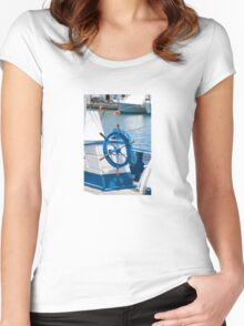 sailor wheel Women's Fitted Scoop T-Shirt